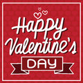 Happy Valentine S Day Lettering Card , Vector Illustration Royalty Free Stock Photos - 64758038