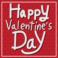 Happy Valentine S Day Lettering Card , Vector Illustration Stock Photos - 64758073