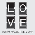 Love Font On Mechanical Panel Letters. Typography, Font, Type Ve Stock Photo - 64758570