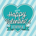 Happy Valentine S Day Lettering Greeting Card With Heart , Vecto Stock Photo - 64758850