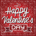 Happy Valentine S Day Lettering Card , Vector Illustration Royalty Free Stock Photography - 64759497