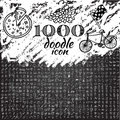 Set Of 1000 Doodle Icon Stock Photography - 64773332
