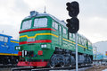 Ulaanbaatar, Mongolia-Dec,02 2015: Two-piece Mainline Locomotive 2M62M. Museum Of Railway Equipment In Ulaanbaatar. Mongolia Stock Photos - 64798333