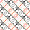 Seamless Vector Pattern. Symmetrical Geometric Background With Black And Red Squares On The White Backdrop.  Stock Photography - 64802372