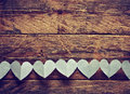 Valentines Day Background With Garland Paper Heart Stock Photography - 64813812