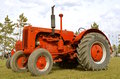 Display Of Restored Old Case Tractor Royalty Free Stock Image - 64816556