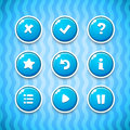 Game Buttons With Icons Set 2 Stock Image - 64818431