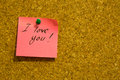 I Love You Post-it Note Stock Photography - 64819342