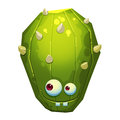 Illustration: The Fantastic Forest Green Cactus Monster Isolated On White Background. Realistic Royalty Free Stock Images - 64825629