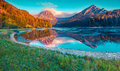 Colorful Summer Sunrise On The Incredibly Beautiful Swiss Lake O Royalty Free Stock Photo - 64830915