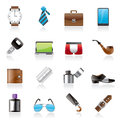 Male Accessories And Clothes Icons- Stock Photos - 64841703