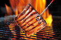Grilled Pork Ribs Stock Image - 64855491