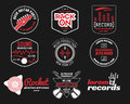 Set Of Vector Music Production Logo,label, Sticker Stock Images - 64868564