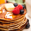 High Pile Of Delicious Pancakes Stock Photo - 64870250