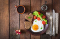 Breakfast On Valentine S Day - Fried Eggs Stock Photos - 64875163