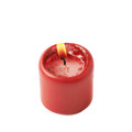 Half-burned Lit Red Candle Isolated Stock Images - 64891264