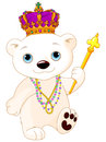 Mardi Gras Polar Bear Royalty Free Stock Photos - 64898618