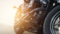 Motorcycles Parking On The Street Royalty Free Stock Photography - 64899177