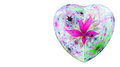 Modern High Resolution Heart Flower Background In Vibrant Colors Stock Photos - 64899973