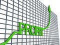 Graph Showing Profit Royalty Free Stock Photography - 6499177