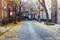 Commerce Street In The Historic Greenwich Village Neighborhood O Stock Images - 64900254