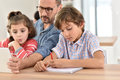 Teacher With Students In Class Royalty Free Stock Image - 64916686