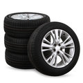 Car Tires On A White Background Royalty Free Stock Photo - 64918685