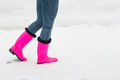 Girl In Rubber Boots Royalty Free Stock Photography - 64922877
