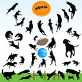 Dog Silhouettes Series. Royalty Free Stock Photography - 64930967