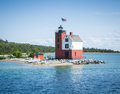 Round Island Lighthouse Royalty Free Stock Photography - 64933837