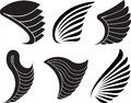 Set Of 6 Vector Wings For Your Design. Stock Photos - 64957013