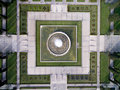 Aerial View Of The Fountain Located In Empire Square In Belem, Lisbon, Portugal Stock Photography - 64959572