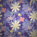 Seamless Flowers Pattern Colourful Royalty Free Stock Image - 64961256
