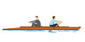 Businessmen Rowing In Opposition Stock Images - 64977434