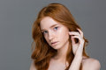 Beauty Portrait Of A Pretty Redhead Woman Royalty Free Stock Photography - 64979277