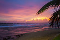 Amazing Bright Sunset With Tropical Sky Stock Image - 64986981