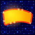 Shining Background With Retro Casino Light Banner Royalty Free Stock Images - 64989549