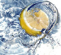 Fresh Lemon In Water Royalty Free Stock Images - 658159