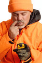 Hunter Lost With Gps Stock Images - 6508054