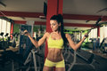 Beautiful Fit Woman Working Out In Gym - Girl In Fitness Stock Images - 65001544
