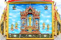 Mural And Sculpture Thai Style On The Wall Of Buddhist Temp Royalty Free Stock Photo - 65026225