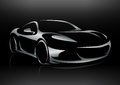 Concept Sportscar Vehicle Silhouette Royalty Free Stock Images - 65028959