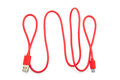 Red USB Cable Plug Royalty Free Stock Image - 65028996