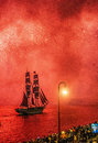 Fireworks Over The City Of St. Petersburg (Russia) Royalty Free Stock Photography - 65050817