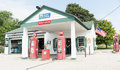 Texaco Garage Restored At Dwight Illinois USA. Royalty Free Stock Photography - 65051087