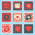 Happy Valentines Day And Weeding Cards. Set Royalty Free Stock Images - 65067549