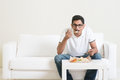 Lonely Man Eating Food Alone Stock Images - 65067814