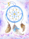 Watercolor Dream Catcher Boho Style Royalty Free Stock Image - 65079506
