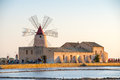 Pans Of Trapani With Windmills, In Sicily Royalty Free Stock Photos - 65085728