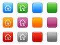 Color Buttons With Home Icon Stock Images - 6518684